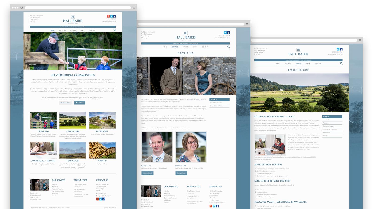 Hall Baird solicitors website scotland