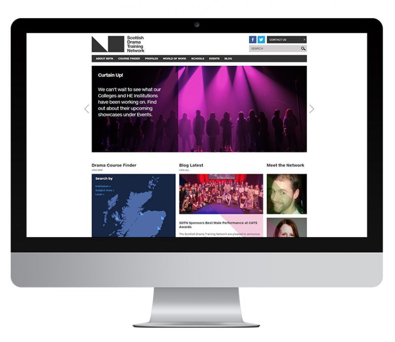 Scottish Drama Training Network website