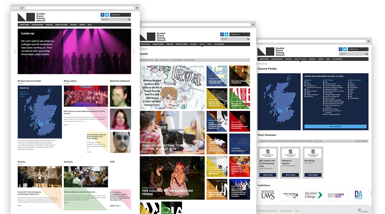 SDTN website pages