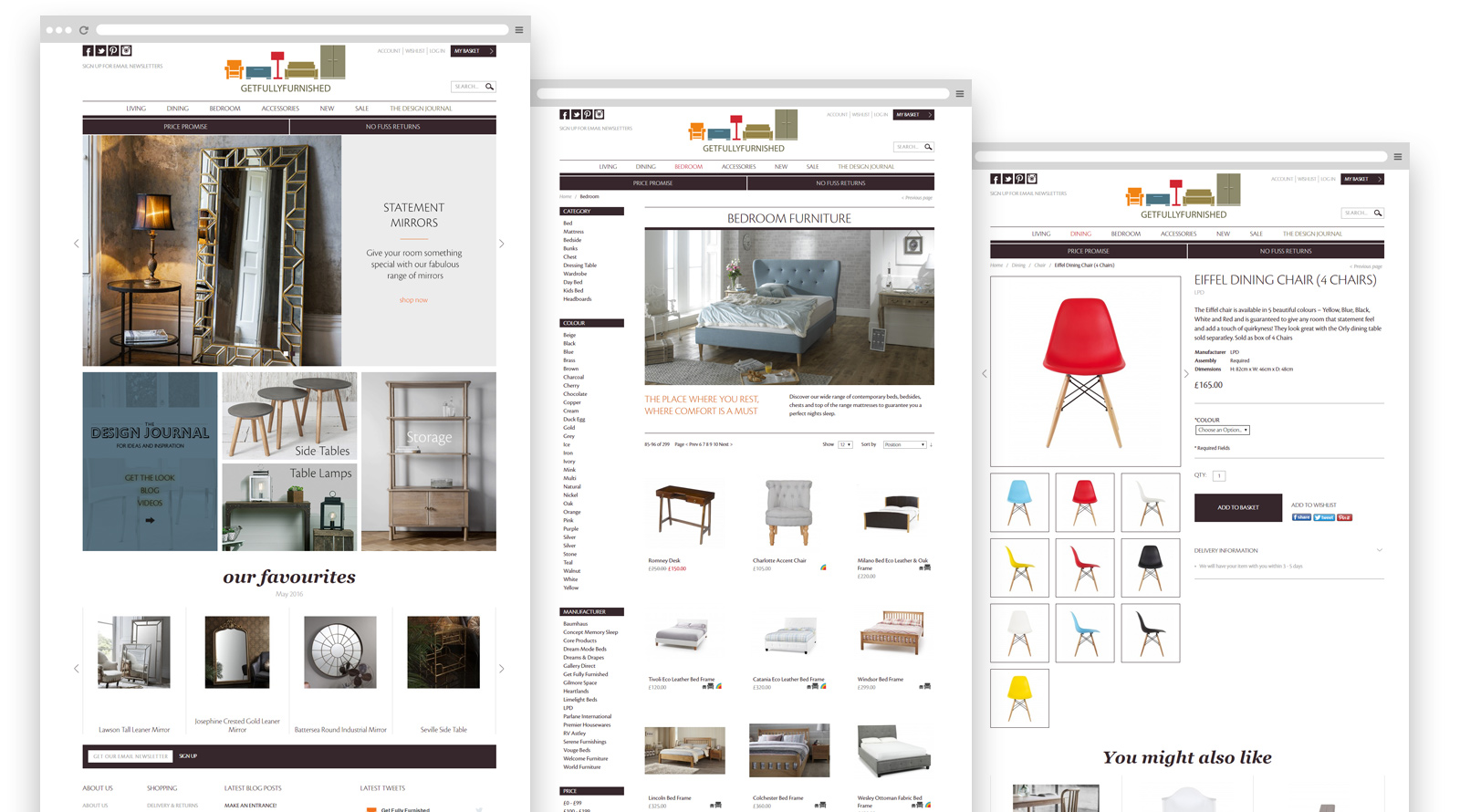 Get Fully Furnished website pages