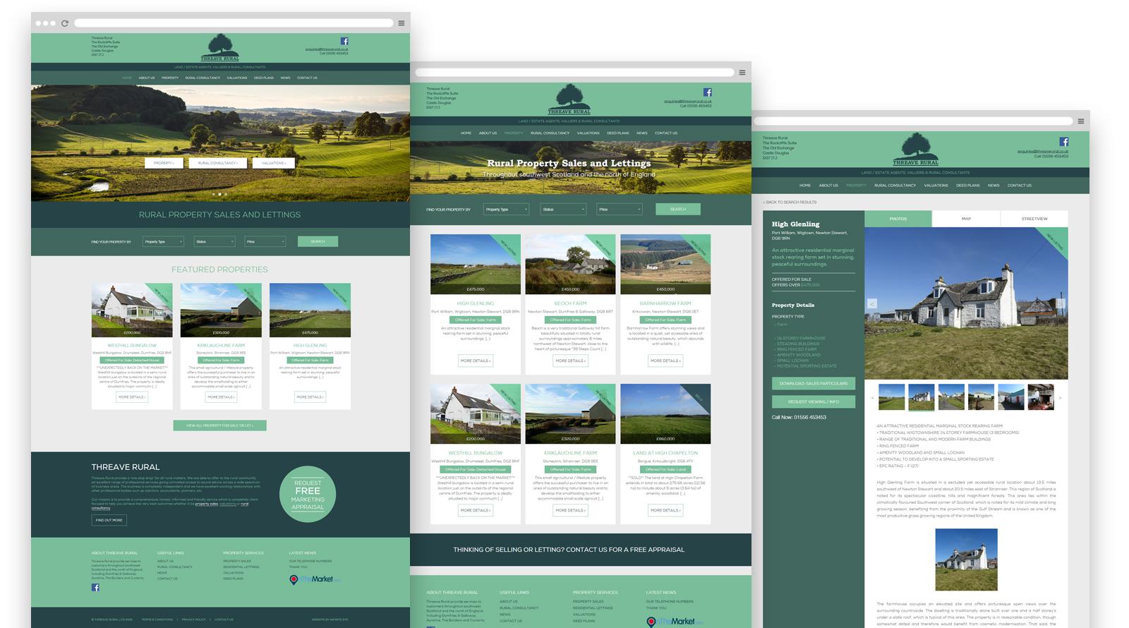 Threave Rural wordpress website