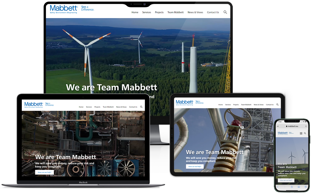 Responsive website design - Mabbett