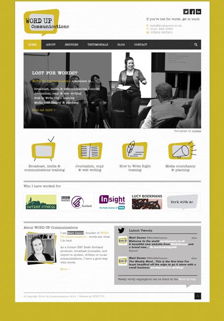 Word Up WordPress website