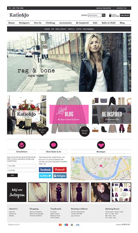 Katie&Jo magento website redesign 2013